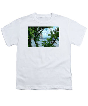 Open image in slideshow, Blue Through the Green - Youth T-Shirt