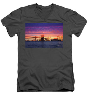 Open image in slideshow, Brooklyn Bridge - Men's V-Neck T-Shirt