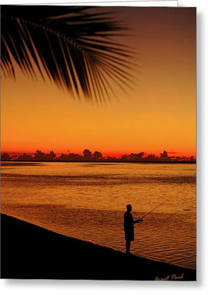 Open image in slideshow, Fishing at Dawn - Greeting Card