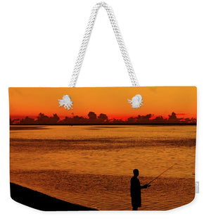 Open image in slideshow, Fishing at Dawn - Weekender Tote Bag