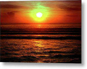 Open image in slideshow, Red Sunset - Metal Print