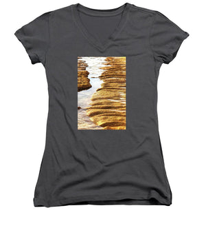 Open image in slideshow, Textured Sand - Women's V-Neck