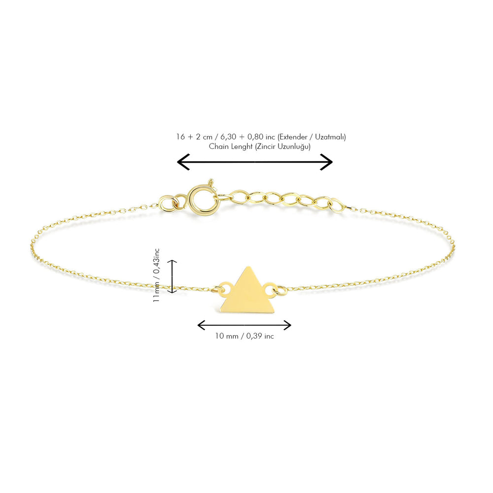 Load image into Gallery viewer, Triangle Gold Bracelet