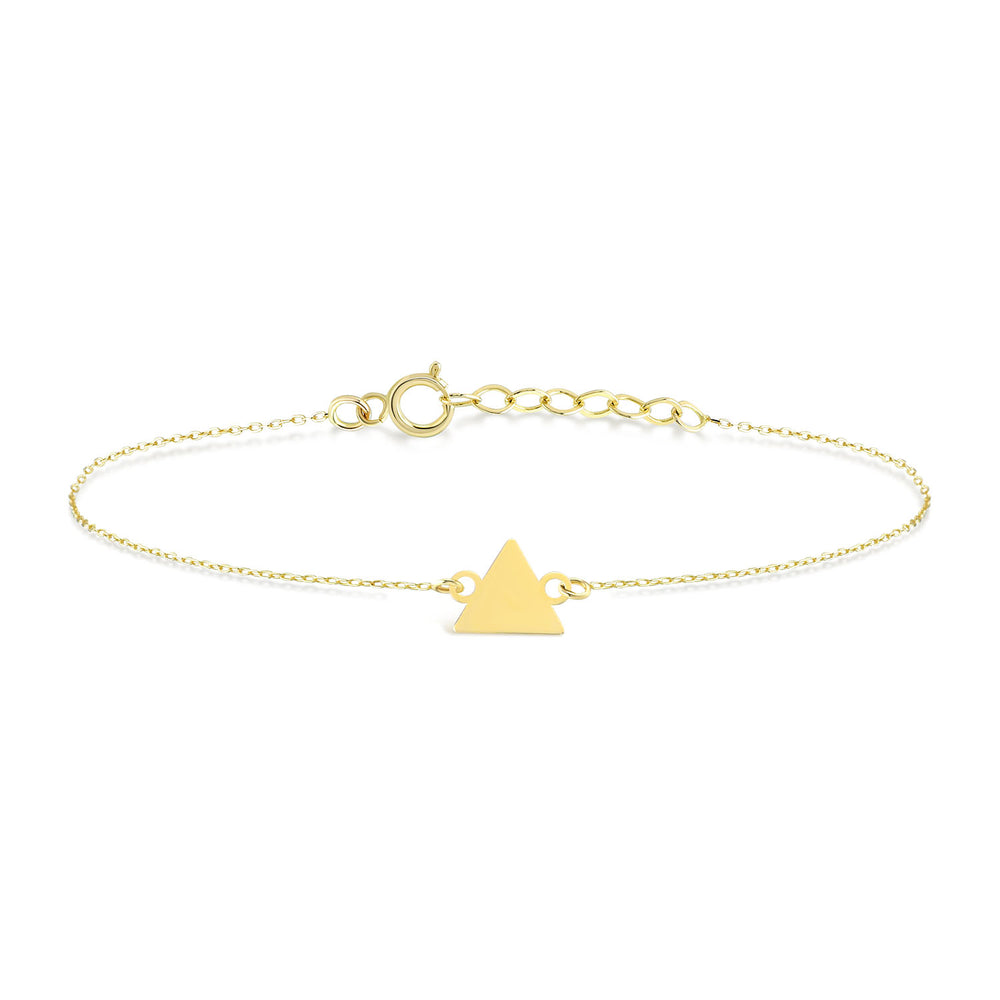 Triangle Gold Plated Silver Bracelet