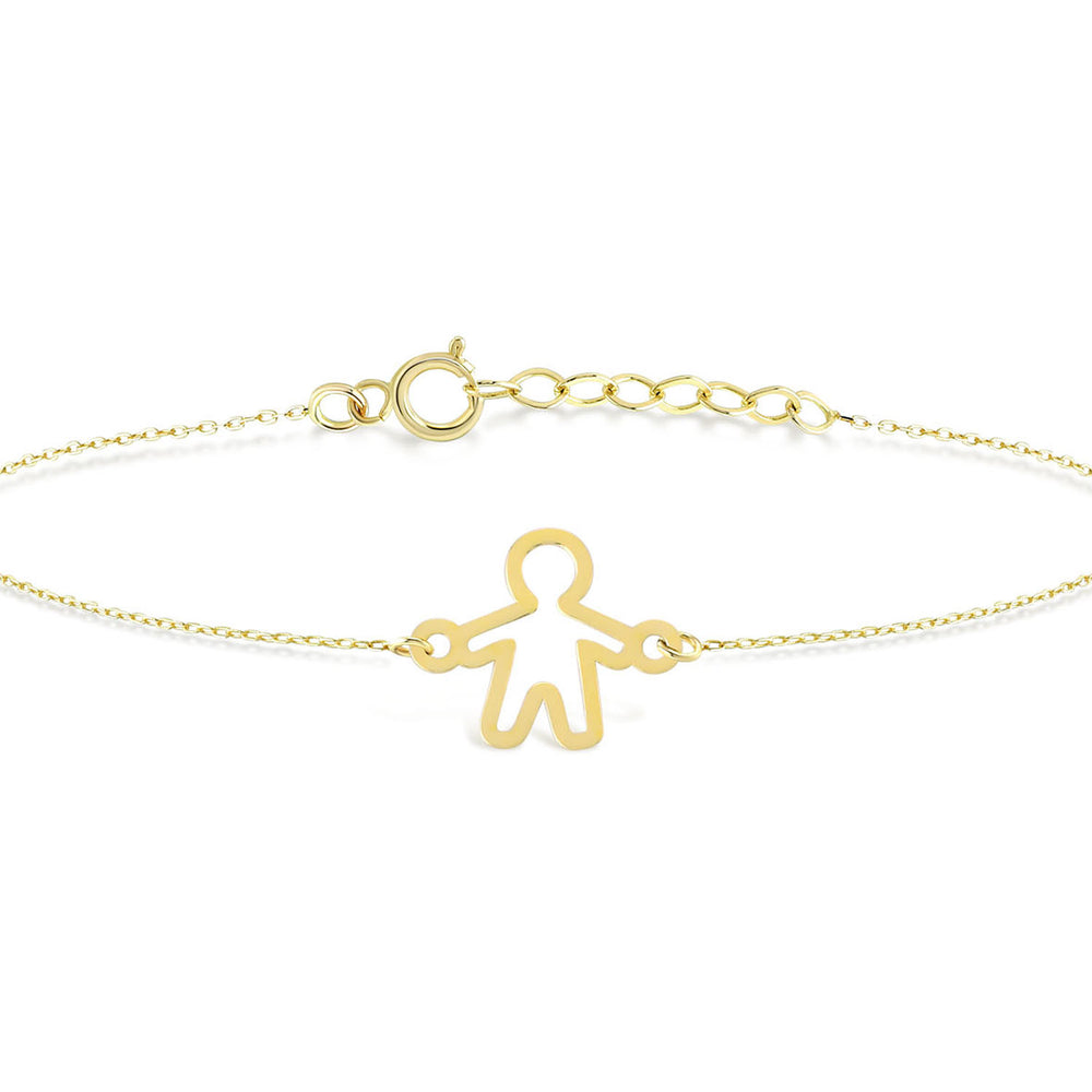 The Little Boy Gold Plated Silver Bracelet