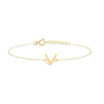 V Shape Gold Plated Silver Bracelet