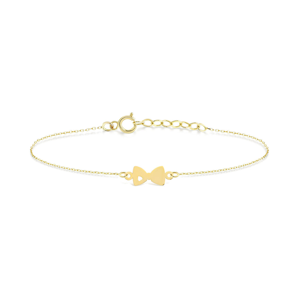 Princess Bow-tie Gold Plated Silver Bracelet