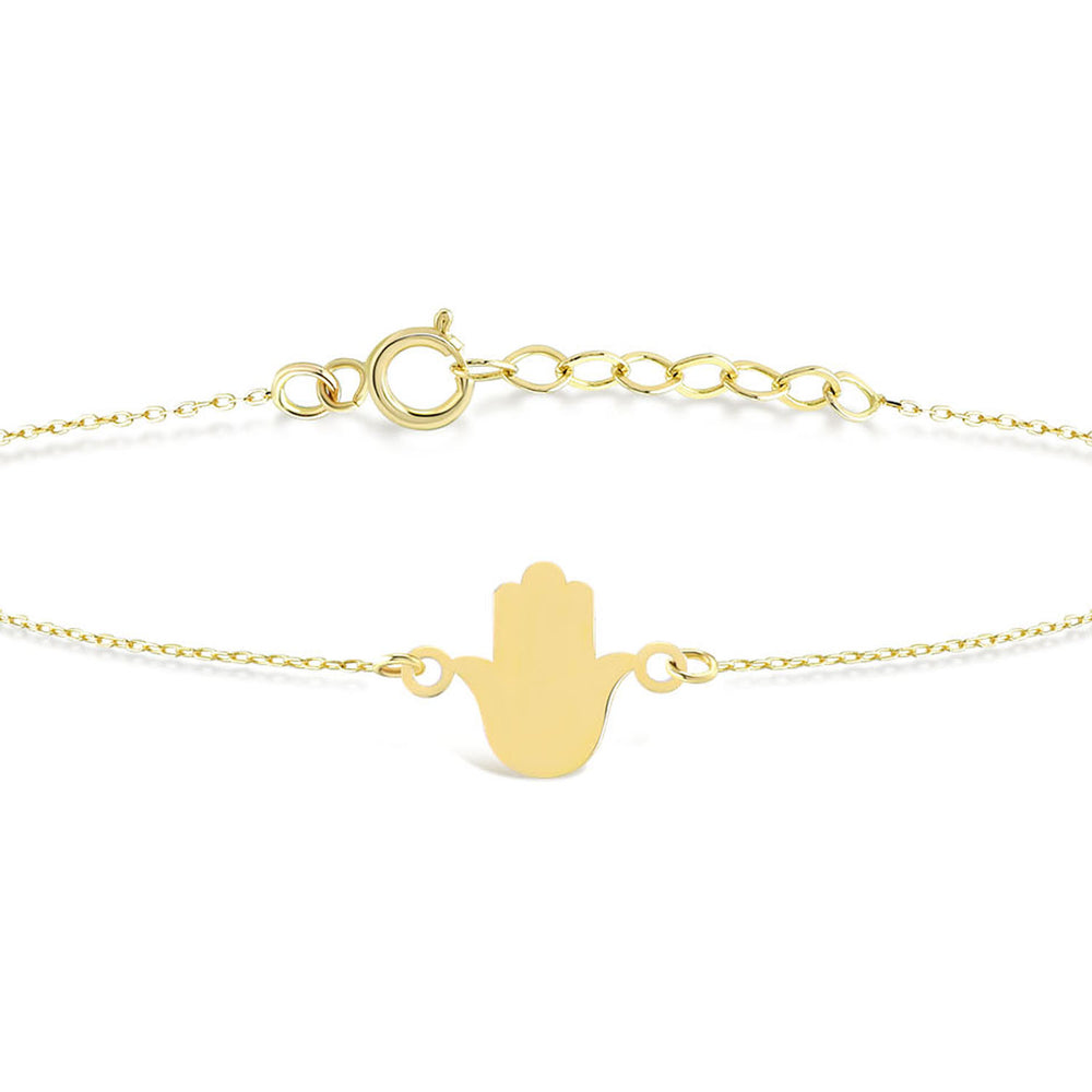 Load image into Gallery viewer, Hamsa Gold Bracelet