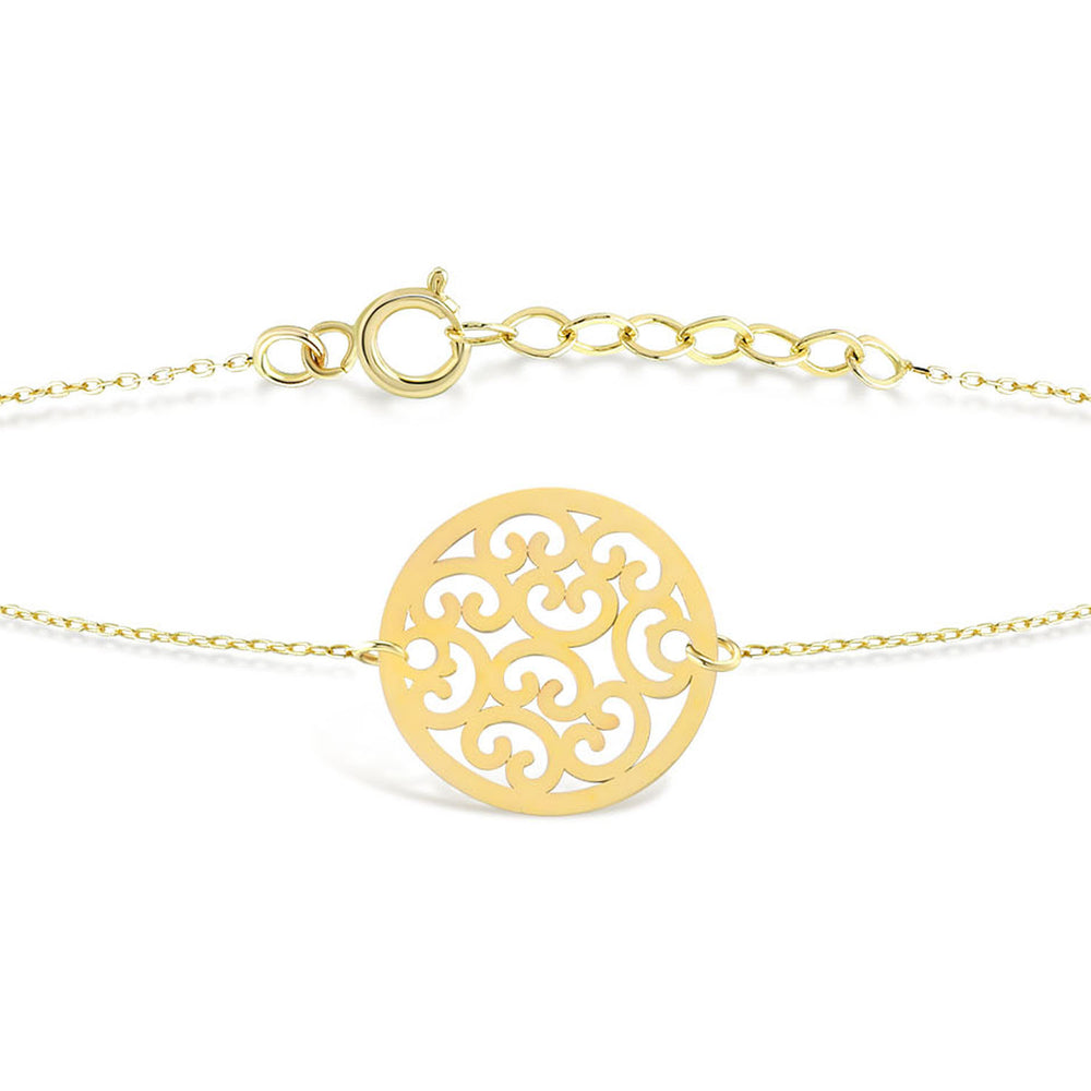 Load image into Gallery viewer, Shinny Flower of Life Gold Bracelet