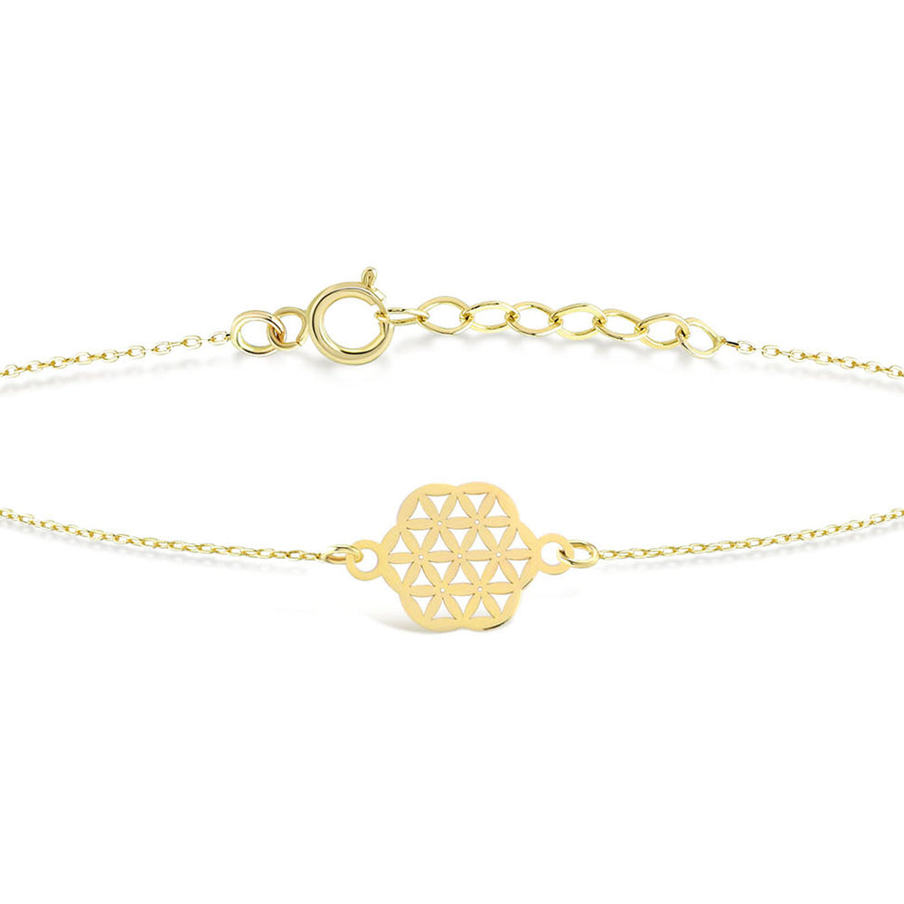 Load image into Gallery viewer, Etnic Hexagon Gold Plated Silver Bracelet