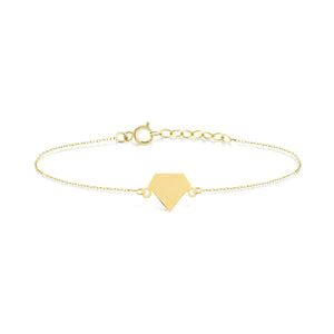 Diamond Shape Gold Bracelet