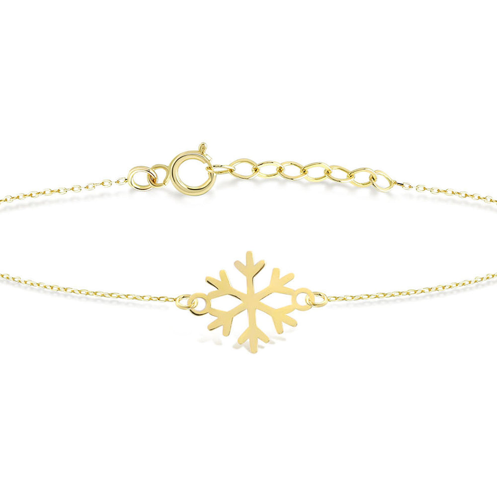 Snow Flake Gold Bracelet