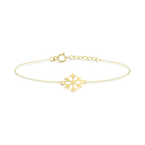 Load image into Gallery viewer, Snow Flake Gold Bracelet