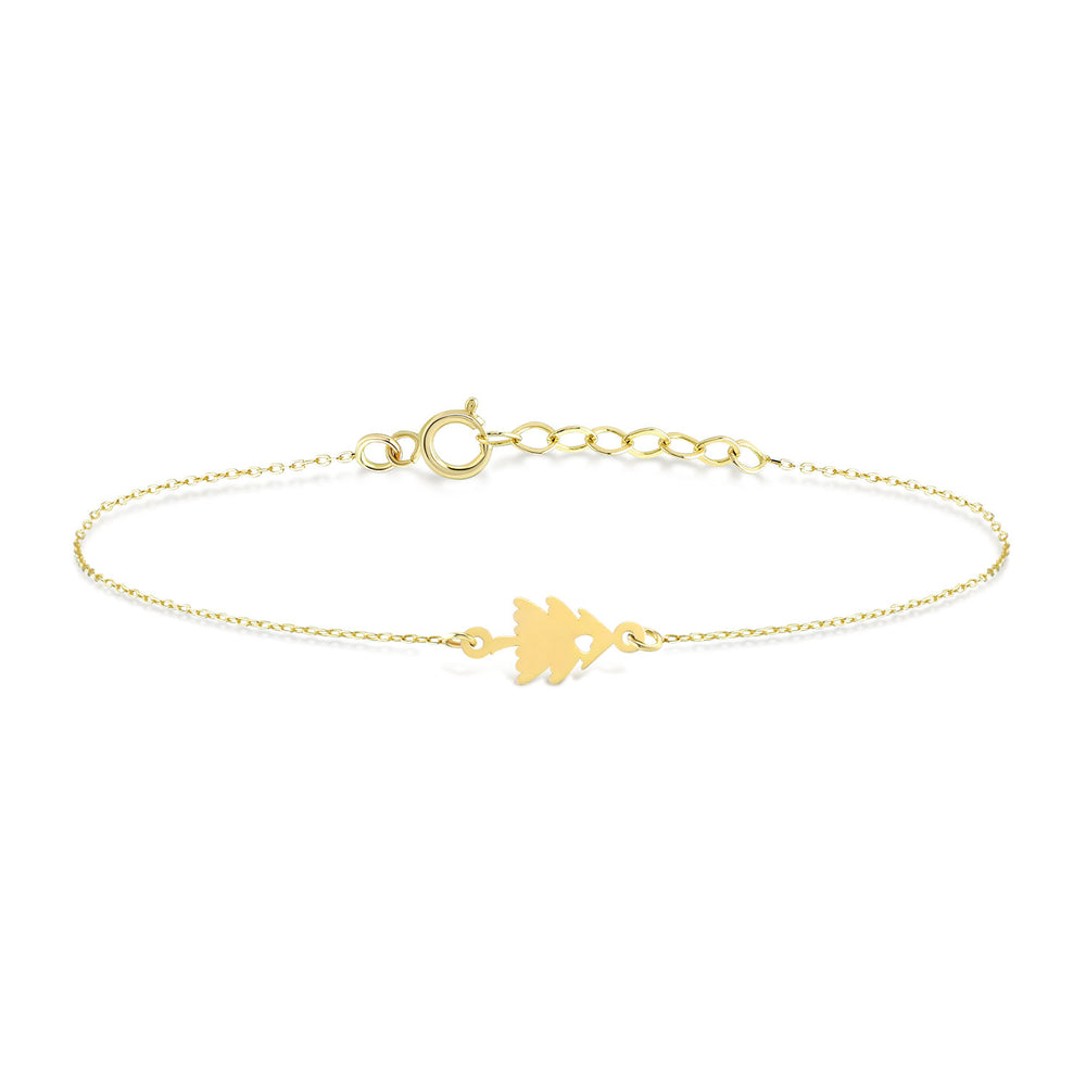 Load image into Gallery viewer, Pine Tree Gold Bracelet