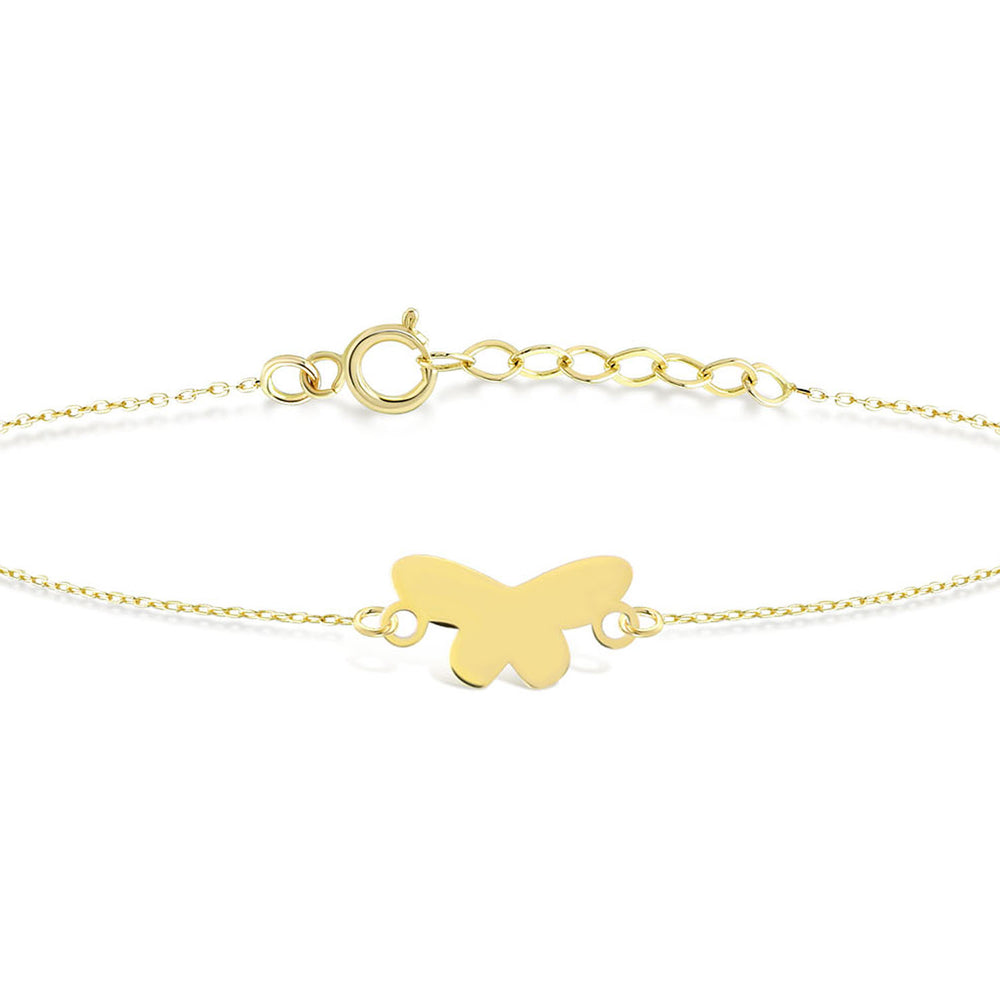Butterfly Gold Plated Silver Bracelet