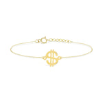 Dollar Gold Plated Silver Bracelet