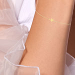Star Gold Plated Silver Bracelet