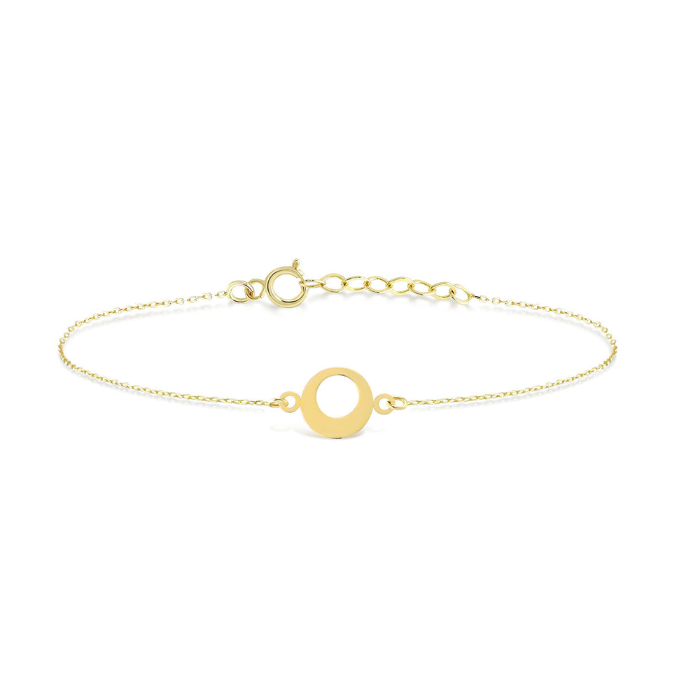 Life Circle Gold Plated Silver Bracelet