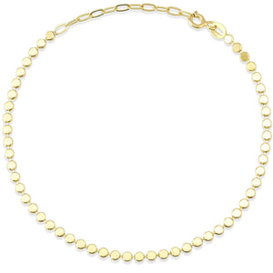 Crushing Bead And Ring Gold Plated 925K Silver Bracelet