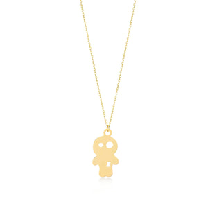 Nauty Boy 14K Gold Pendant Necklace