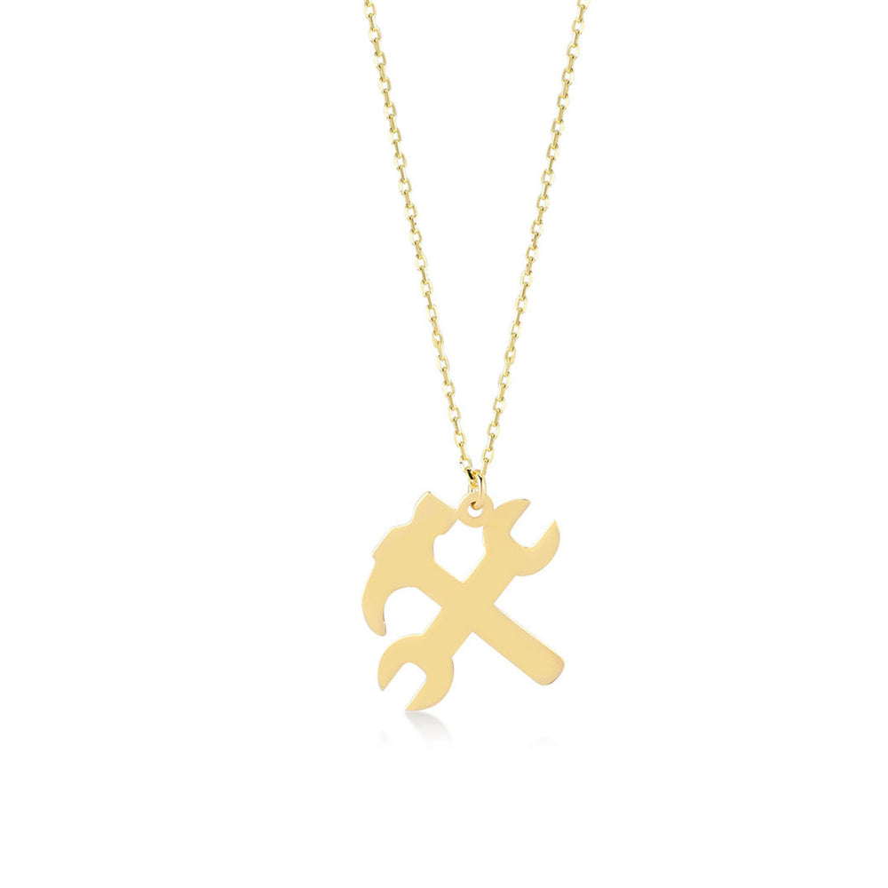Tools Figured 14K Gold Pendant Necklace