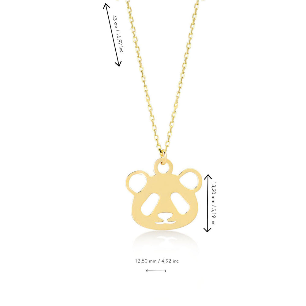 Baby Panda 14K Gold Pendant Necklace