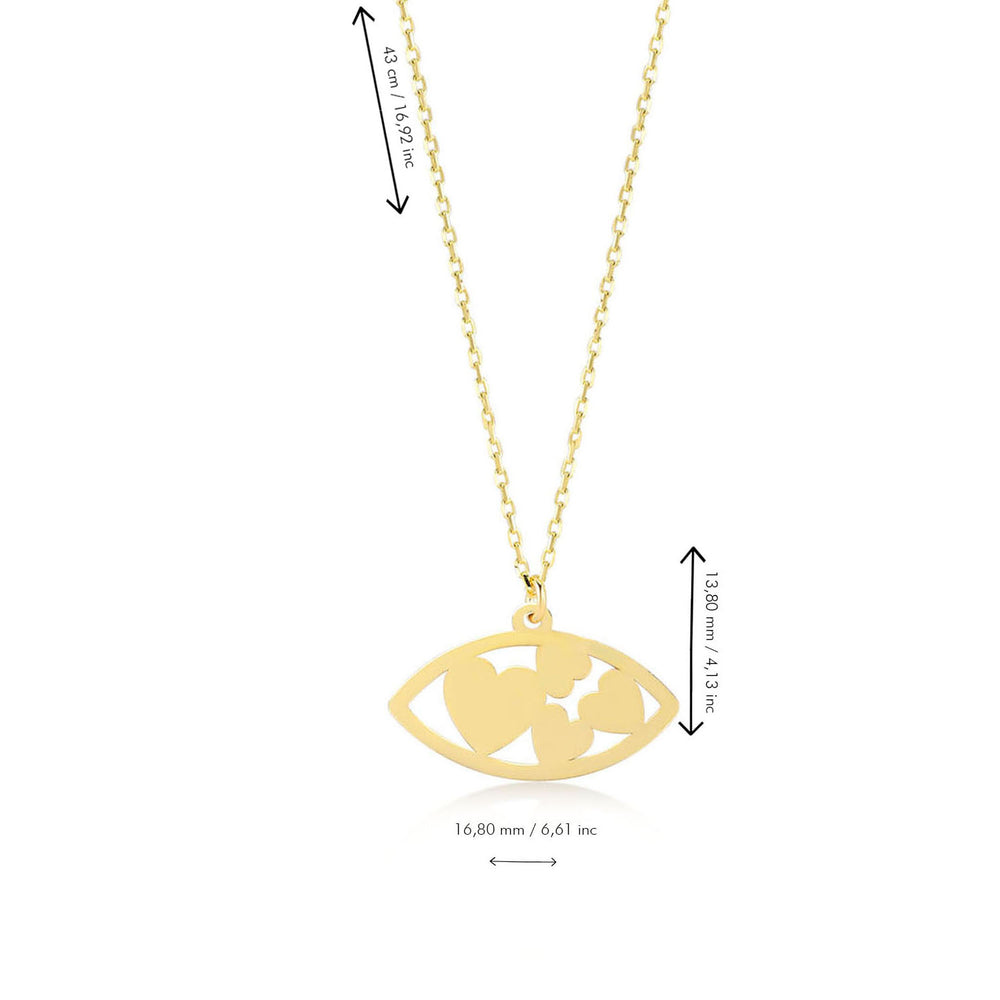 Full of Love 14K Gold Pendant Necklace