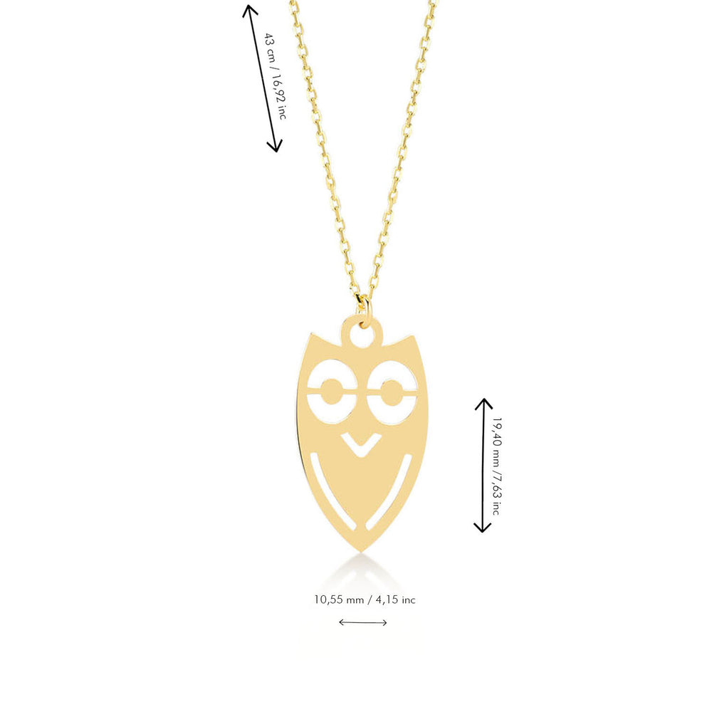 Load image into Gallery viewer, Cute Owl 14K Gold Pendant Necklace