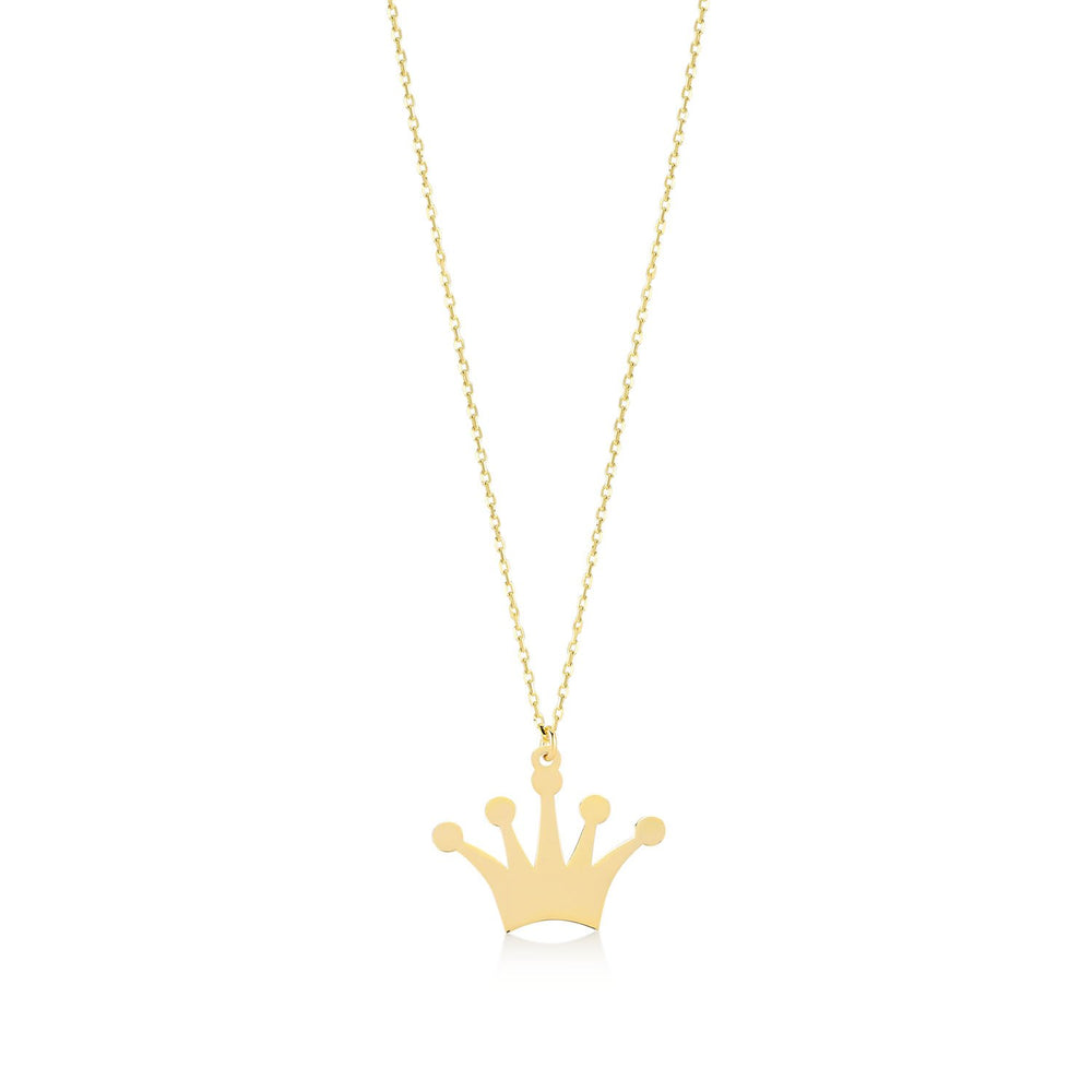 Crown Gold Plated 925K Silver Pendant Necklace