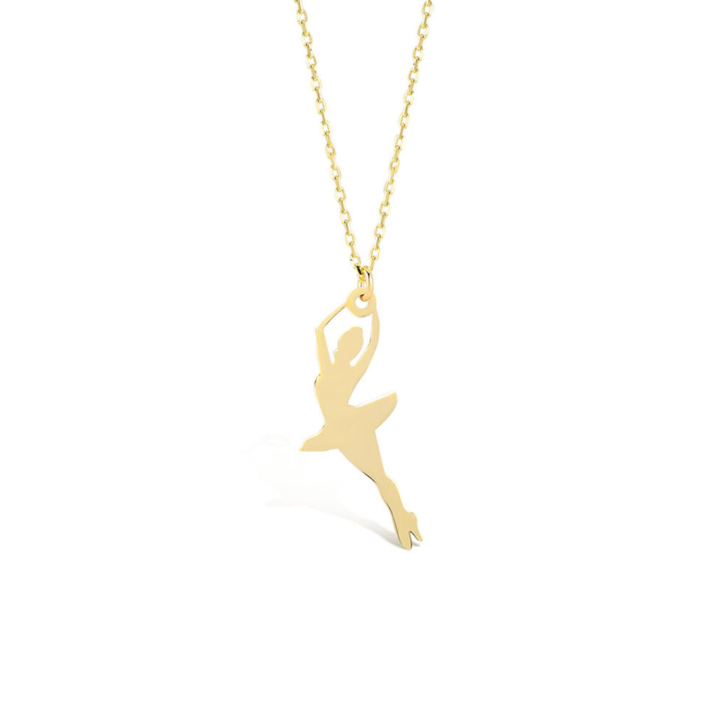 Load image into Gallery viewer, Ballerina 14K Gold Pendant Necklace
