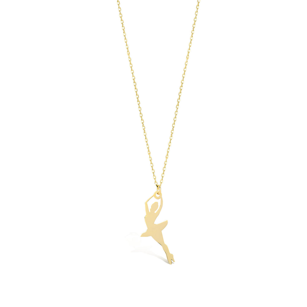 Ballerina 14K Gold Pendant Necklace
