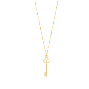 Tiny Key to my Heart 14K Gold Pendant Necklace