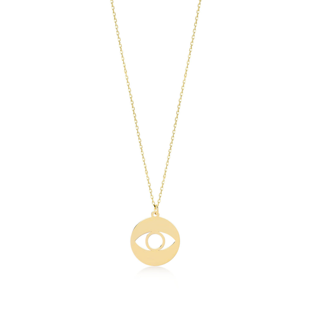 Evil Eye 14K Gold Pendant Necklace
