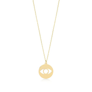 Load image into Gallery viewer, Evil Eye Gold Plated 925K Silver Pendant Necklace