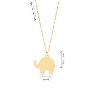 Good Luck Elephant 14K Gold Pendant Necklace