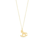 Rocking Horse 14K Gold Pendant Necklace