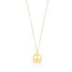 Pacman Ghost 14K Gold Pendant Necklace