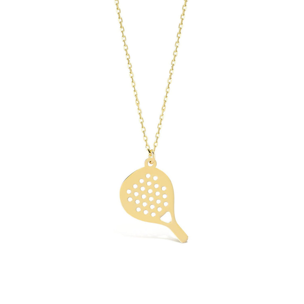 Passion of Rackets Gold Plated 925K Silver Pendant Necklace