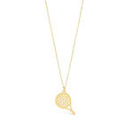 Passion of Rackets 14K Gold Pendant Necklace