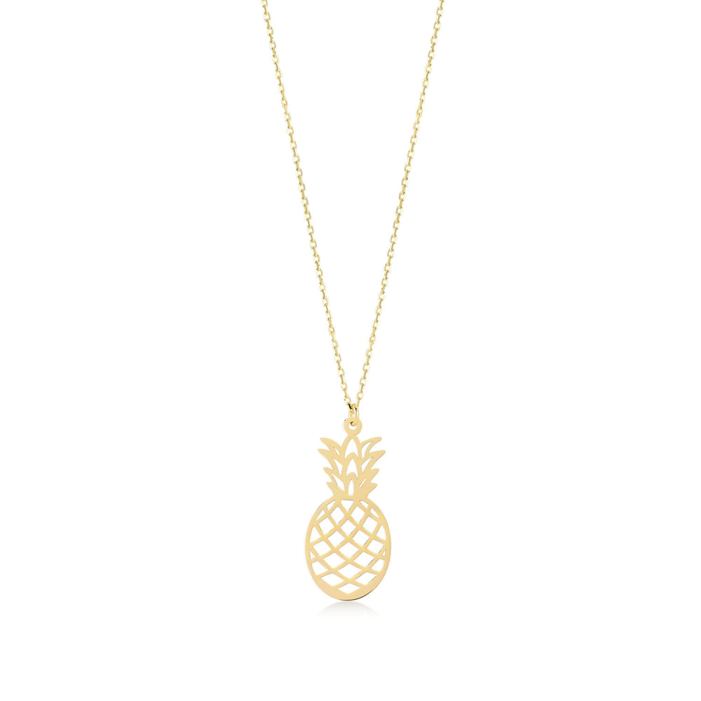 Sweet Pineapple 14K Gold Pendant Necklace