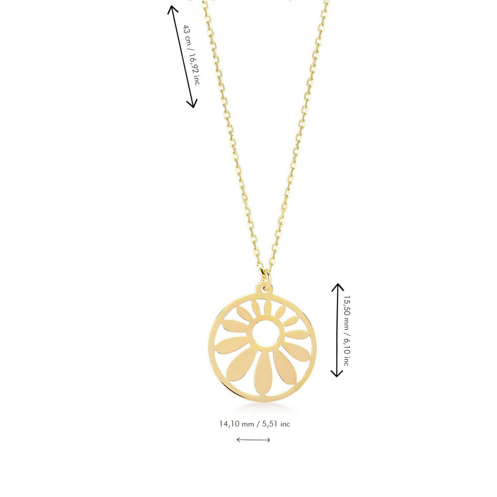 Chasing Sun Gold Plated 925K Silver Pendant Necklace