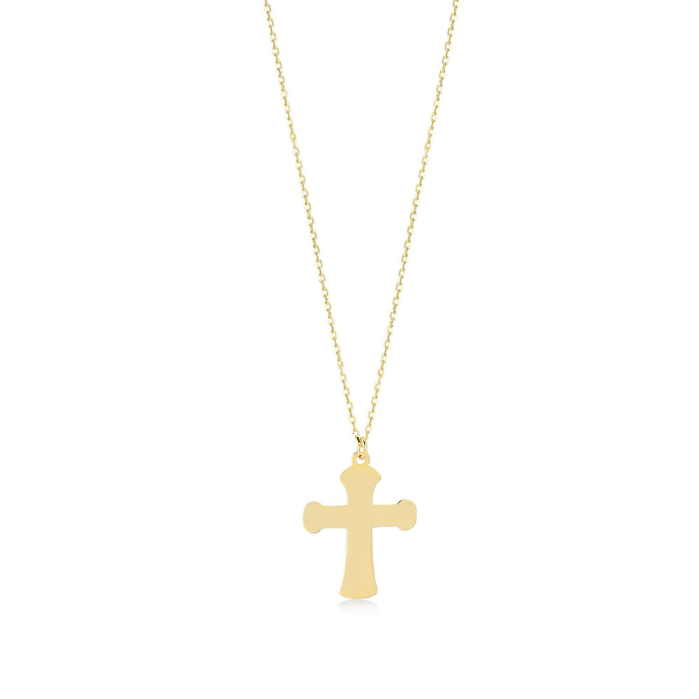 Bold Cross Gold Plated 925K Silver Pendant Necklace