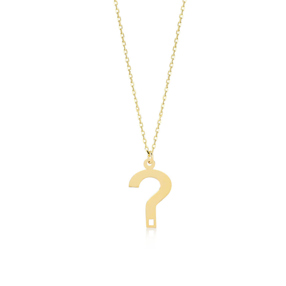 If You Have A Question 14K Gold Pendant Necklace