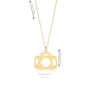 Capture The Good Times 14K Gold Pendant Necklace