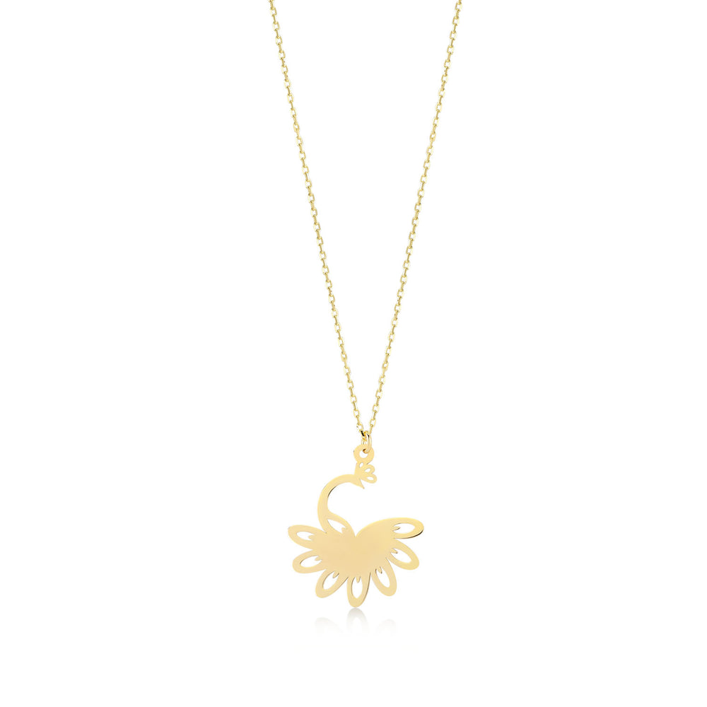 Peacock 14K Gold Pendant Necklace