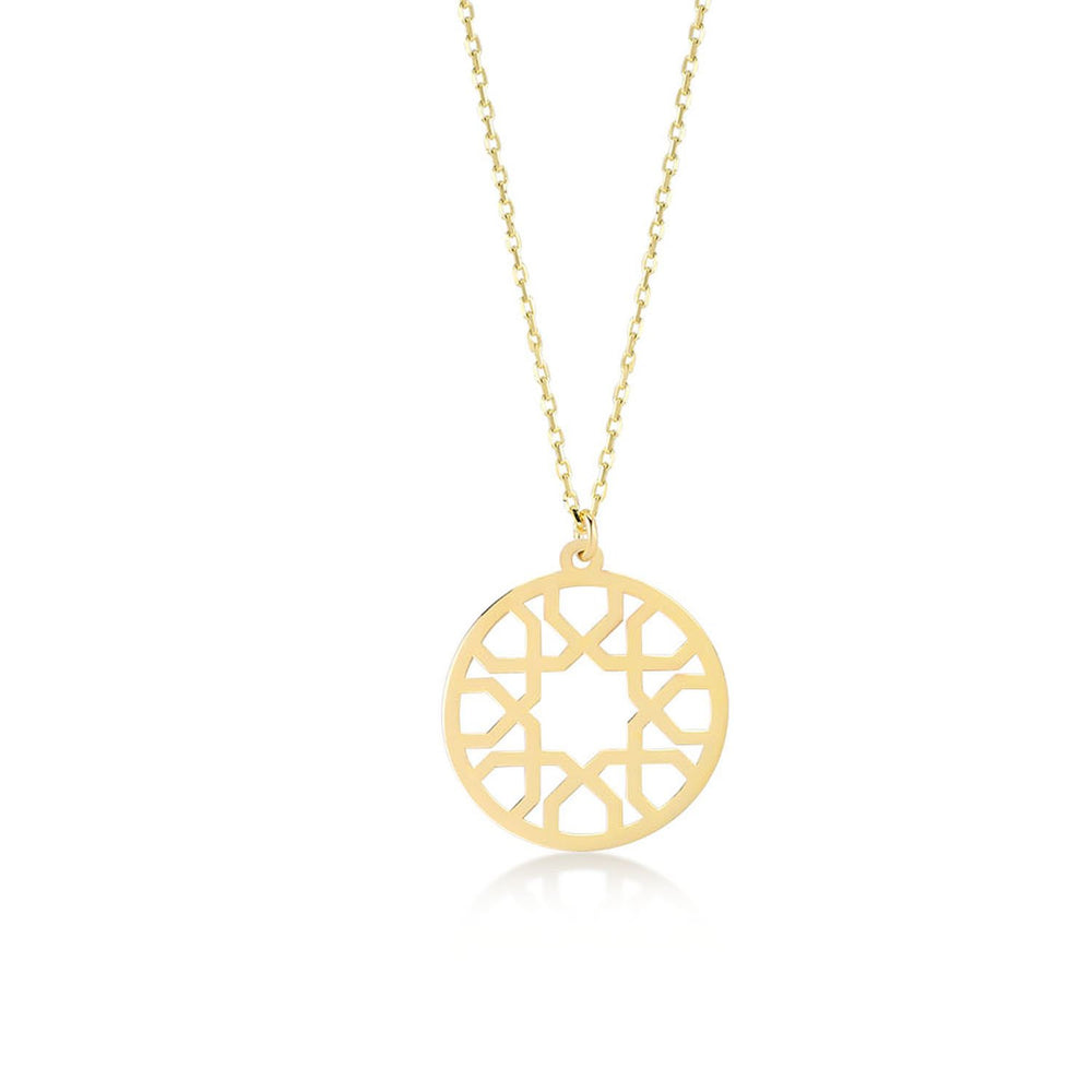 Bohemian Vintage Gold Plated 925K Silver Pendant Necklace
