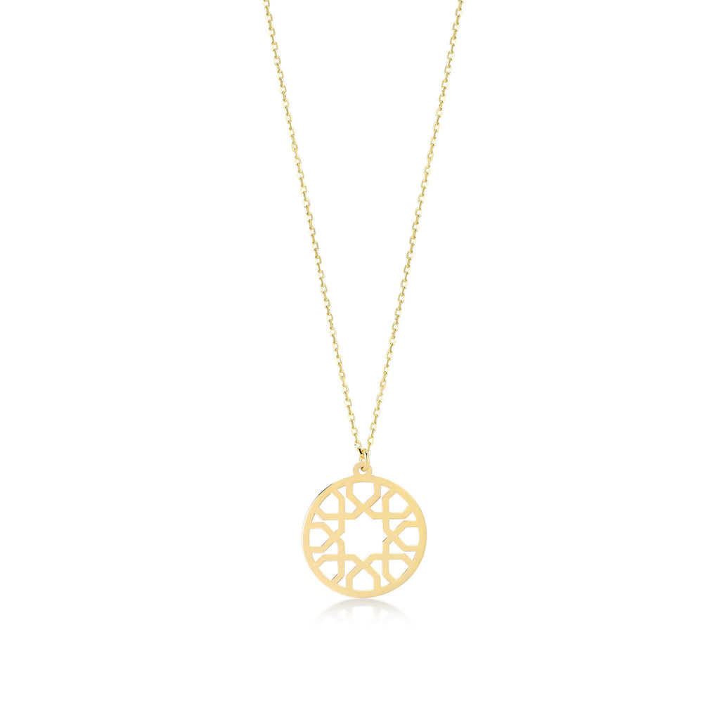 Load image into Gallery viewer, Bohemian Vintage 14K Gold Pendant Necklace