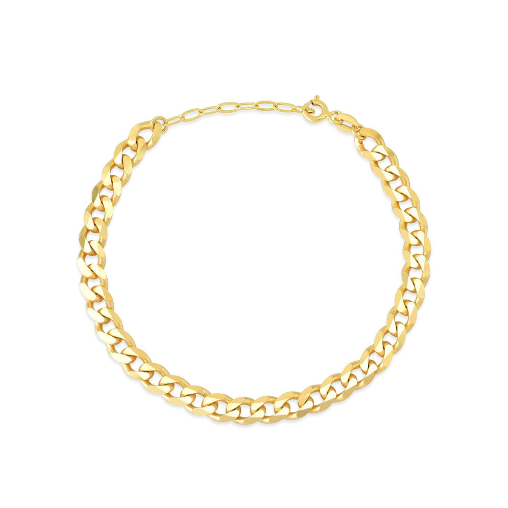 Auger And Ring Gold Plated 925K Silver Bracelet