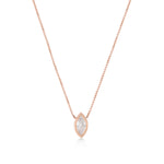 Waterdrop Rose Gold Plated 925K Silver Necklace