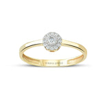 Minimalist Baguette Straight Gold Plated 925K Silver Ring